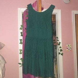 F21 pretty green lace dress